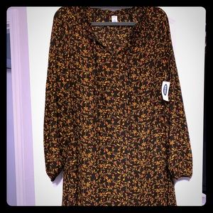 Old Navy Women's Long Sleeve Floral Design Dress